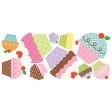 Happi Cupcake Peel and Stick Giant Wall Decals