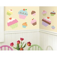 <strong>Room Mates</strong> Happi Cupcake Giant Wall Decal