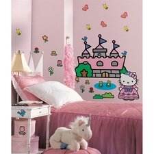 Hello Kitty Princess Castle Giant Peel and Stick Mural