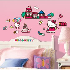 32 Piece Set World of Hello Kitty Peel and Stick Wall Decals