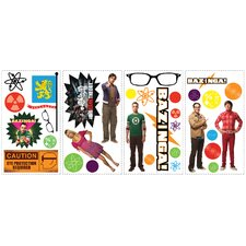 30-Piece Peel & Stick Big Bang Theory Wall Decal