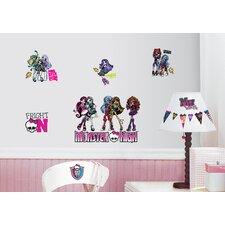 37 Piece Peel & Stick Monster High Wall Decal Set
