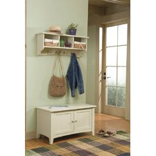 <strong>Alaterre</strong> Shaker Cottage Entryway Storage Bench and Coat Hooks