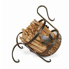 Wrought Iron European Fatwood Caddy
