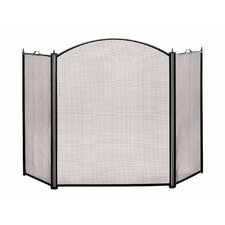 Arched 3 Panel Steel Fireplace Screen