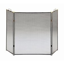 <strong>Minuteman International</strong> Flat Top 3 Panel Steel Fireplace Screen