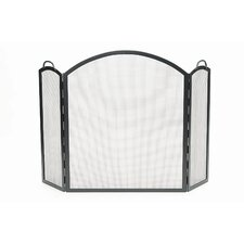 <strong>Minuteman International</strong> Arched 3 Panel Wrought Iron Fireplace Screen