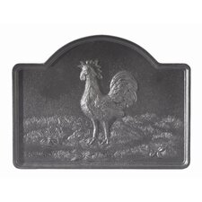 Rooster Cast Iron Fire Back