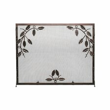 Weston Leaf Wrought Iron Fireplace Screen