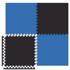 Economy SoftFloors Set in Royal Blue / Black