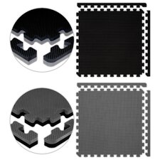 <strong>Alessco Inc.</strong> Jumbo Reversible SoftFloors Set in Black / Grey