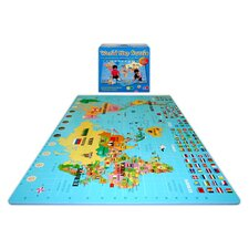Play and Learn Style 1355 World Map Mat