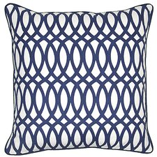 Ellipse Cotton Textile Accent Pillow