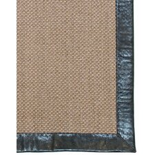 Cappuccino Leather Border Rug