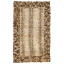 Cabana Braided Border Brown Rug