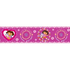 Nickelodeon Dora the Explorer Wall Border in Pink