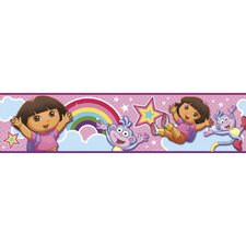 Nickelodeon Dora the Explorer Rainbow Self Stick Wall Border
