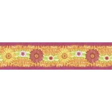 Just for Kids Daisy Daze Self Stick Scenic Wall Border