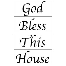 <strong>Blue Mountain Wallcoverings</strong> Bless This House Wall Decal