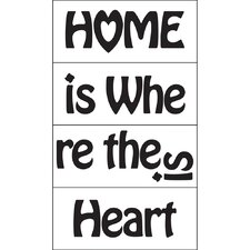 <strong>Blue Mountain Wallcoverings</strong> Home is Where the Heart is Wall Decal