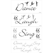 <strong>Blue Mountain Wallcoverings</strong> Dance, Laugh, Sing Wall Decal