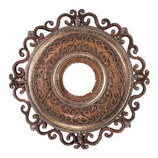 "Napoli 22"" Ceiling Medallion in Tuscan Patina"