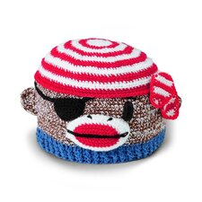 Kids' Pirate Monkey Crochet Beanie Hat