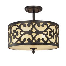 <strong>Minka Lavery</strong> Spazio 3 Light Semi Flush Mount
