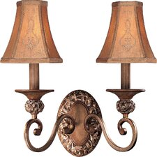 <strong>Minka Lavery</strong> Salon Grand Jessica McClintock 2 Light Wall Sconce