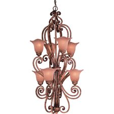 Valenza 8 Light Hall Foyer Pendant