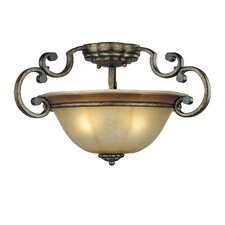 <strong>Minka Lavery</strong> Brompton 3 Light Semi Flush Mount