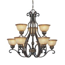 <strong>Minka Lavery</strong> Brompton 9 Light Chandelier