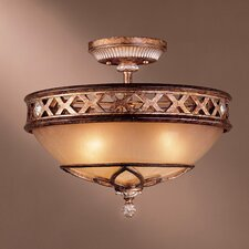 Ashton Court 3 Light Semi Flush Mount