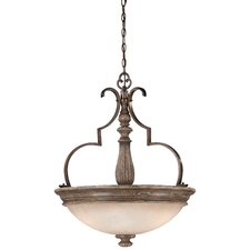 Regents Row 3 Light Bowl Pendant