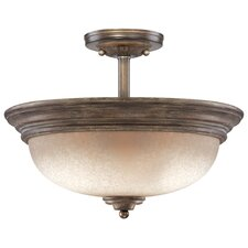 <strong>Minka Lavery</strong> Regents Row 3 Light Semi-Flush Mount