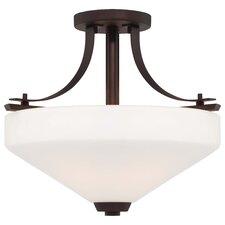<strong>Minka Lavery</strong> Zacara 3 Light Semi-Flush Mount