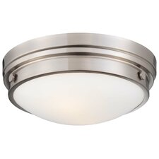 <strong>Minka Lavery</strong> 2 Light Flush Mount