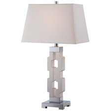 "1 Light 29.38"" H Table Lamp with Rectangular Shade"