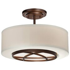 City Club 3 Light Semi-Flush Mount