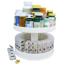 <strong>Jobar International</strong> Revolving Medicine Organizer