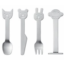 Children's 4 Piece Animal Friends Cutlery Set