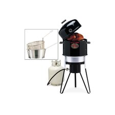 <strong>Brinkmann</strong> All-In-One Charcoal / Gas Stove / Fryer with Pan and Basket Set