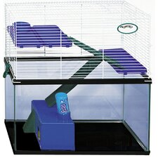 Tank Topper Small Animal Cage with Water Bottle