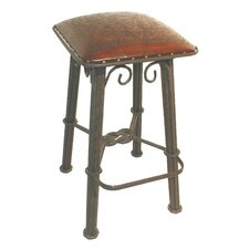 Colonial Western Iron Counter Stool in Antique Brown