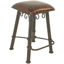 Western Iron Barstool in Antique Brown