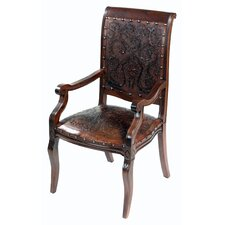<strong>New World Trading</strong> Colonial Imperial Leather Arm Chair