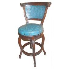 "Spanish Swivel 40"" Bar Stool with Cushion"