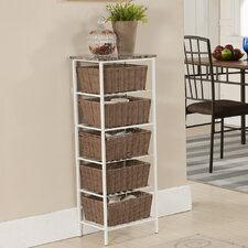 <strong>InRoom Designs</strong> 5 Tier Storage with Basket