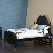 Jepara Bed in Distressed Black