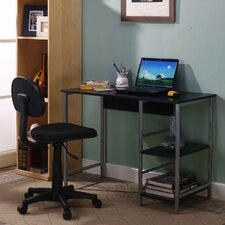 Student Writing Desk with Side Shelf